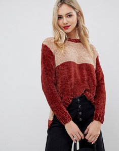Read more about Stella morgan chenille jumper with contrast panels - camel