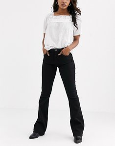 Read more about Pieces flared jeans in black