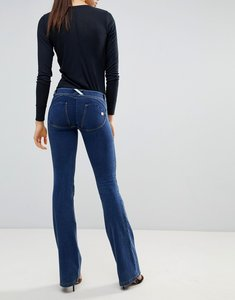Read more about Freddy wr up shaping effect push in flare jean - dark blue