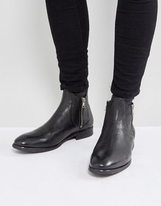 Read more about H by hudson mitchell leather zip up boots - black