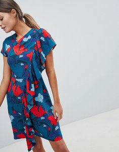 Read more about Closet printed dress with frill detail - multi