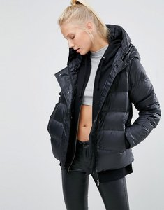 Read more about Nike long padded jacket with hood - black black black