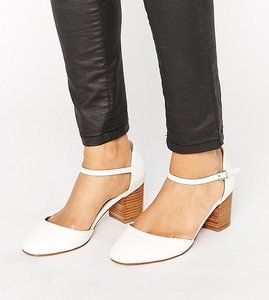 Read more about Asos ora wide fit heels - white