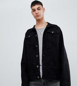 Read more about Reclaimed vintage inspired oversized denim jacket in black - black