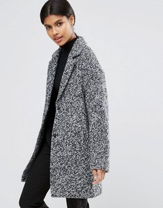 Read more about Asos coat in cocoon fit and textured fabric - mono