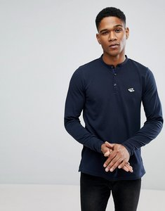 Read more about Le shark pique marl long sleeve henley - navy