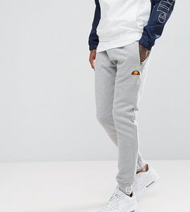 Read more about Ellesse skinny joggers with repeat logo cuff - grey