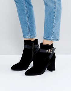 Read more about Raid ziva black wrap buckle heeled ankle boots - black