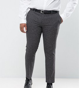Read more about Harry brown plus skinny fit grey nep suit trousers - grey