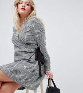 Read more about Unique 21 hero long sleeve wrap dress - grey
