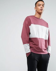 Read more about Asos oversized sweatshirt in pink and grey marl - burgundy