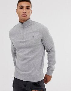 Read more about Polo ralph lauren half zip sweatshirt in grey marl - grey