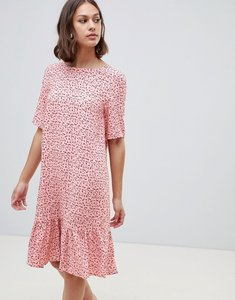 Read more about Ichi printed drop waist dress - blush