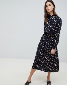 Read more about Uttam boutique long sleeve floral maxi dress - navy