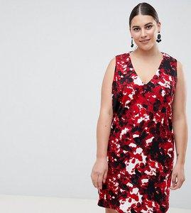 Read more about Ax paris plus v neck swing dress - red cloud print