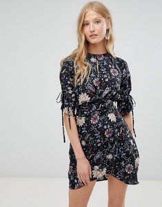 Read more about Love other things floral print tie dress - black