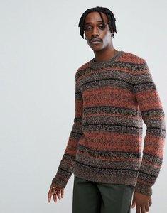 Read more about Asos textured jumper in retro design - multi