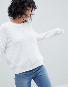 Read more about Asos design crop chunky jumper - white