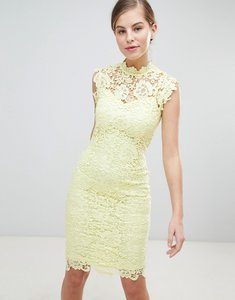 Read more about Paper dolls high neck crochet dress - lemon
