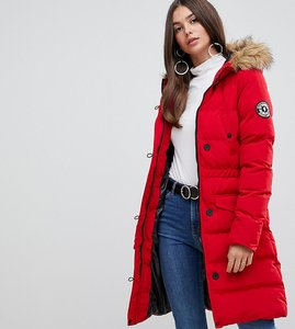 Read more about Brave soul tall whitehorse padded parka coat