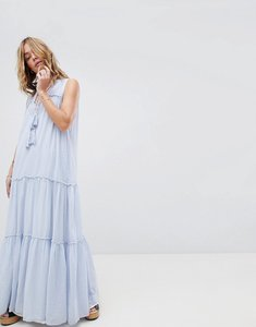 Read more about Free people river gorge dress - blue combo