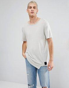Read more about Cheap monday divide asymmetric hem t-shirt ecru - ecru