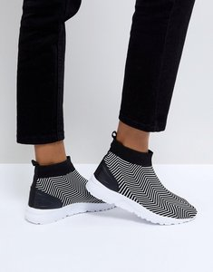 Read more about Asos devise multi sock trainers - black white