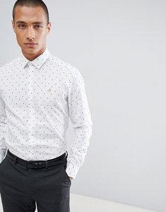Read more about Farah slim shirt in design - white