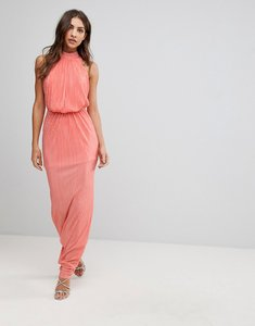Read more about Love pleated maxi dress - coral