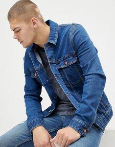 Read more about Asos design skinny denim jacket in dark wash - dark wash