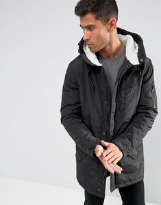 Read more about Brave soul borg lined hooded parka jacket - black
