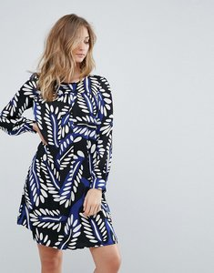 Read more about Traffic people feather print shift dress - blue