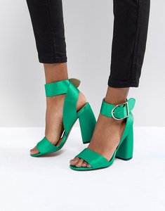 Read more about Asos hold tight heeled sandals - emerald green
