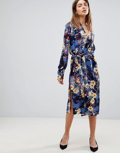 Read more about Y a s bloom printed midi dress - multi
