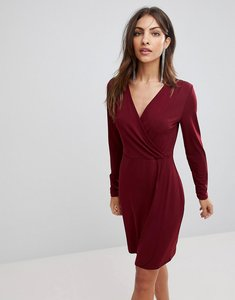Read more about French connection eso slinky wrap dress - zinfandel