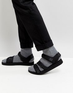 Read more about Asos sandals in black with tape straps - black