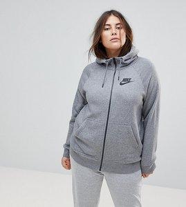 Read more about Nike plus rally full zip hoodie in grey - grey