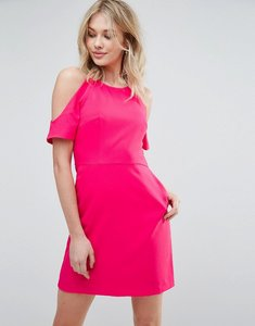 Read more about Oasis cold shoulder dress - pink