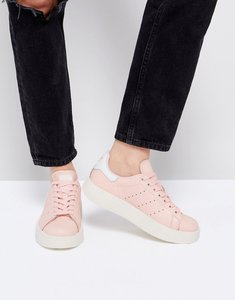 Read more about Adidas originals pale pink stan smith bold sole trainer - pink