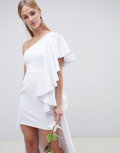 Read more about Asos edition asymmetric ruffle wedding dress with high low hem