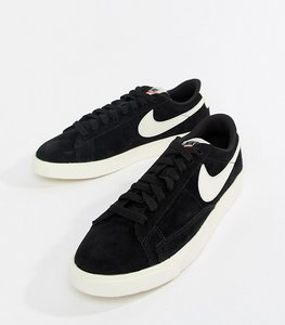 Read more about Nike blazer trainers in black and white - black