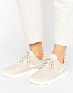 Read more about Nike roshe 2 premium trainers in beige with embroidered swoosh - oatmeal oatmealivor