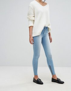 Read more about Dr denim mid rise ankle grazer jeans - light indigo