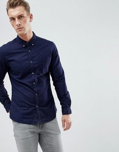 Read more about Esprit slim fit oxford shirt with button down collar in navy - 400