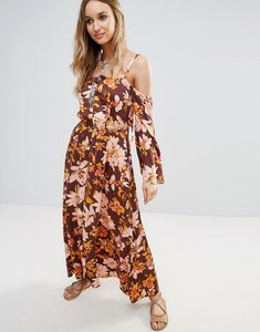 Read more about Somedays lovin floral cold shoulder festival maxi dress - multi