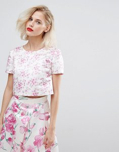 Read more about Horrockses blossom print crop top co ord