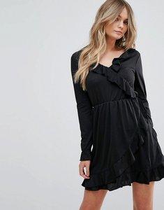 Read more about Brave soul flute wrap dress - black