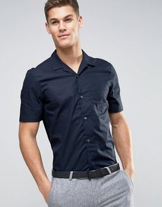 Read more about French connection revere collar bowling shirt - navy