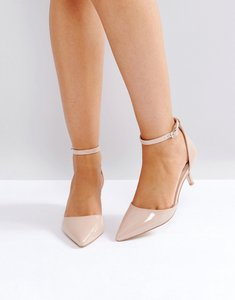 Read more about Raid layla patent kitten heel shoes - nude