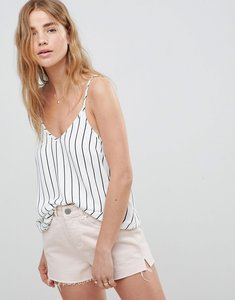 Read more about Asos design swing cami with double layer in stripe - black white